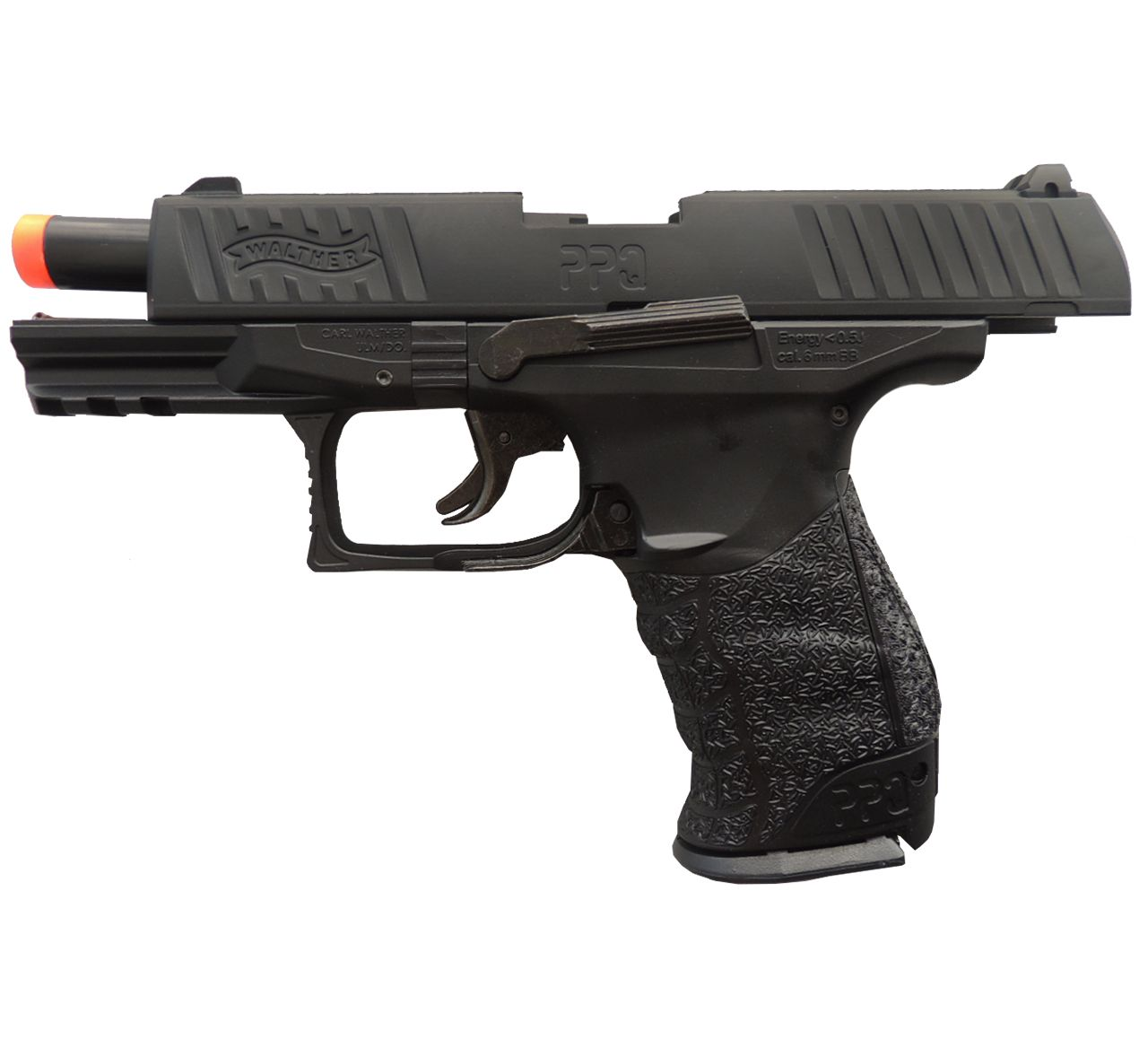 Pistola Airsoft Umarex Walther PPQ Full Metal Spring + Maleta Rígida Rossi