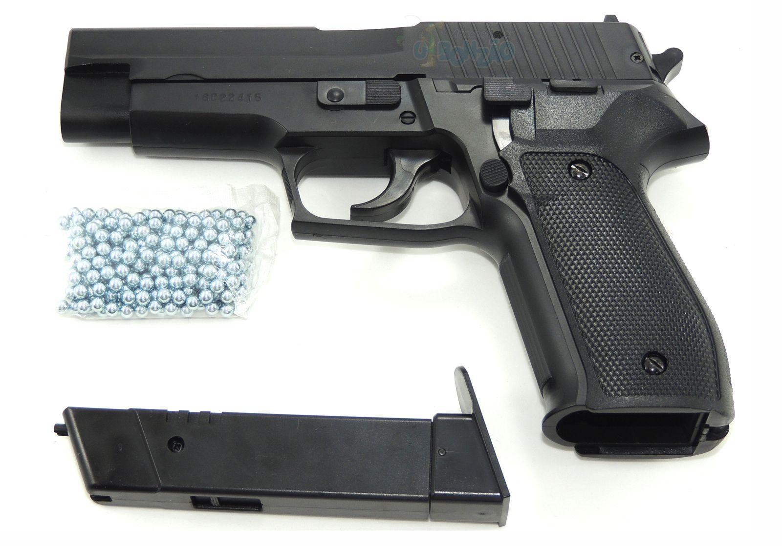 Pistola de Pressão P226 KWC Spring Slide Metal 4.5mmm