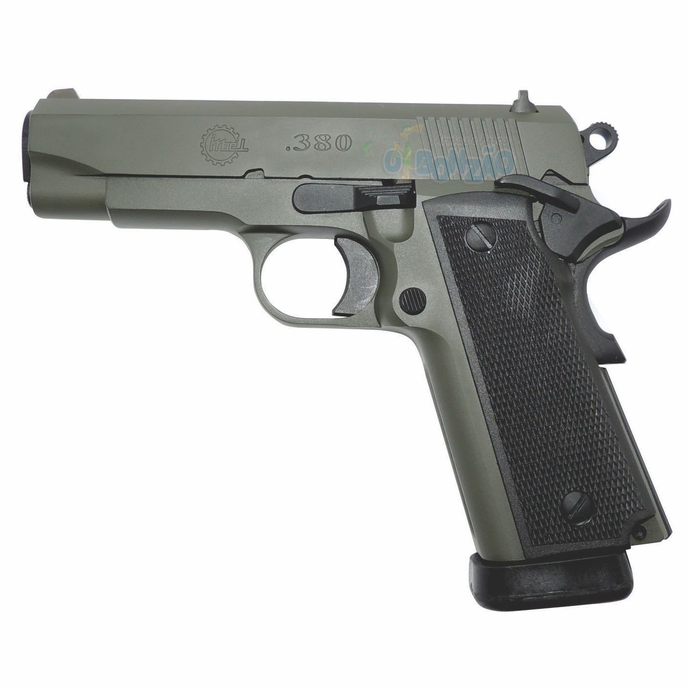 Pistola Imbel MD1 GC ADC Cal .380 ACP 19+1 Tiros Oxidada Verde