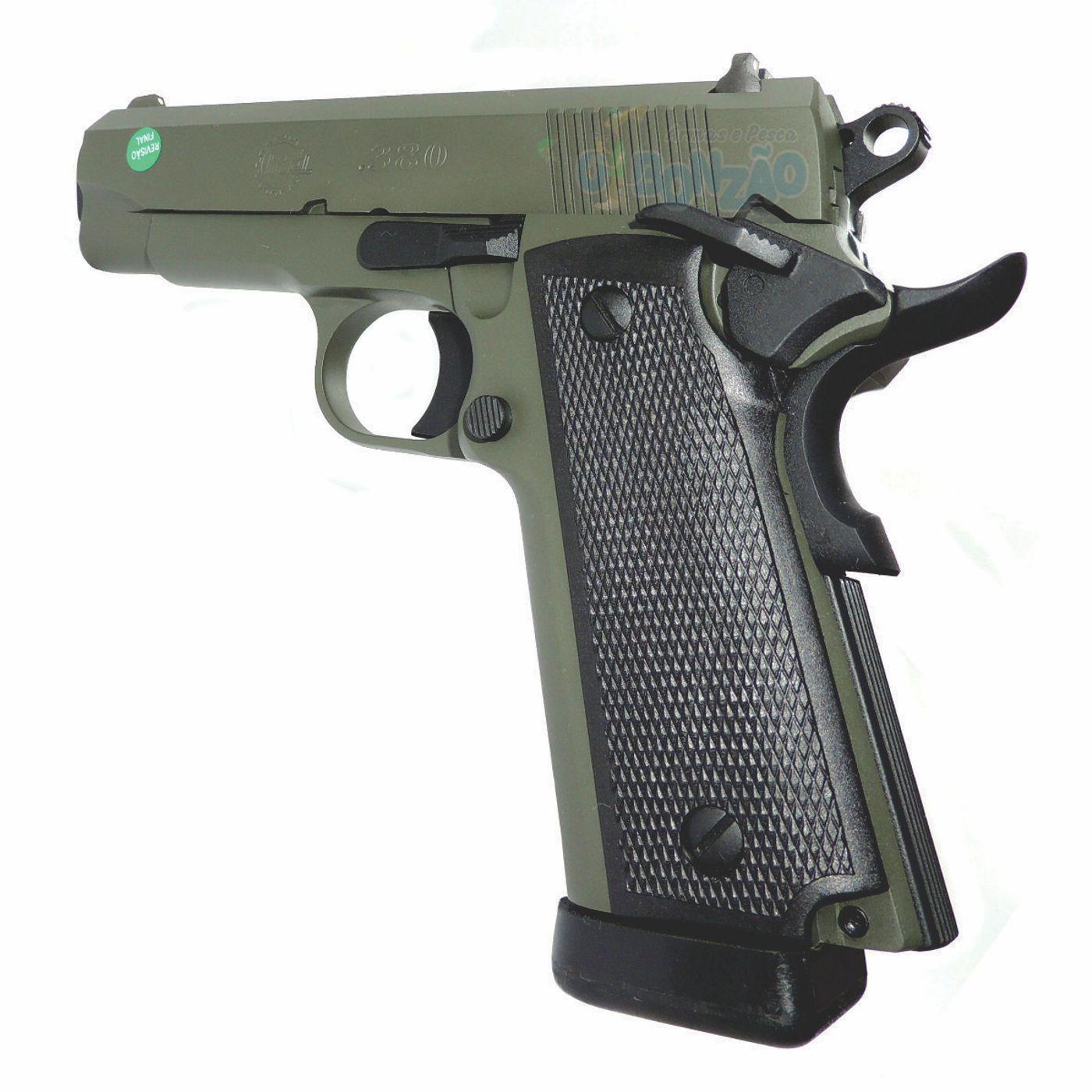 Pistola Imbel MD1 GC Cal .380 ACP 19+1 Tiros Oxidada Verde