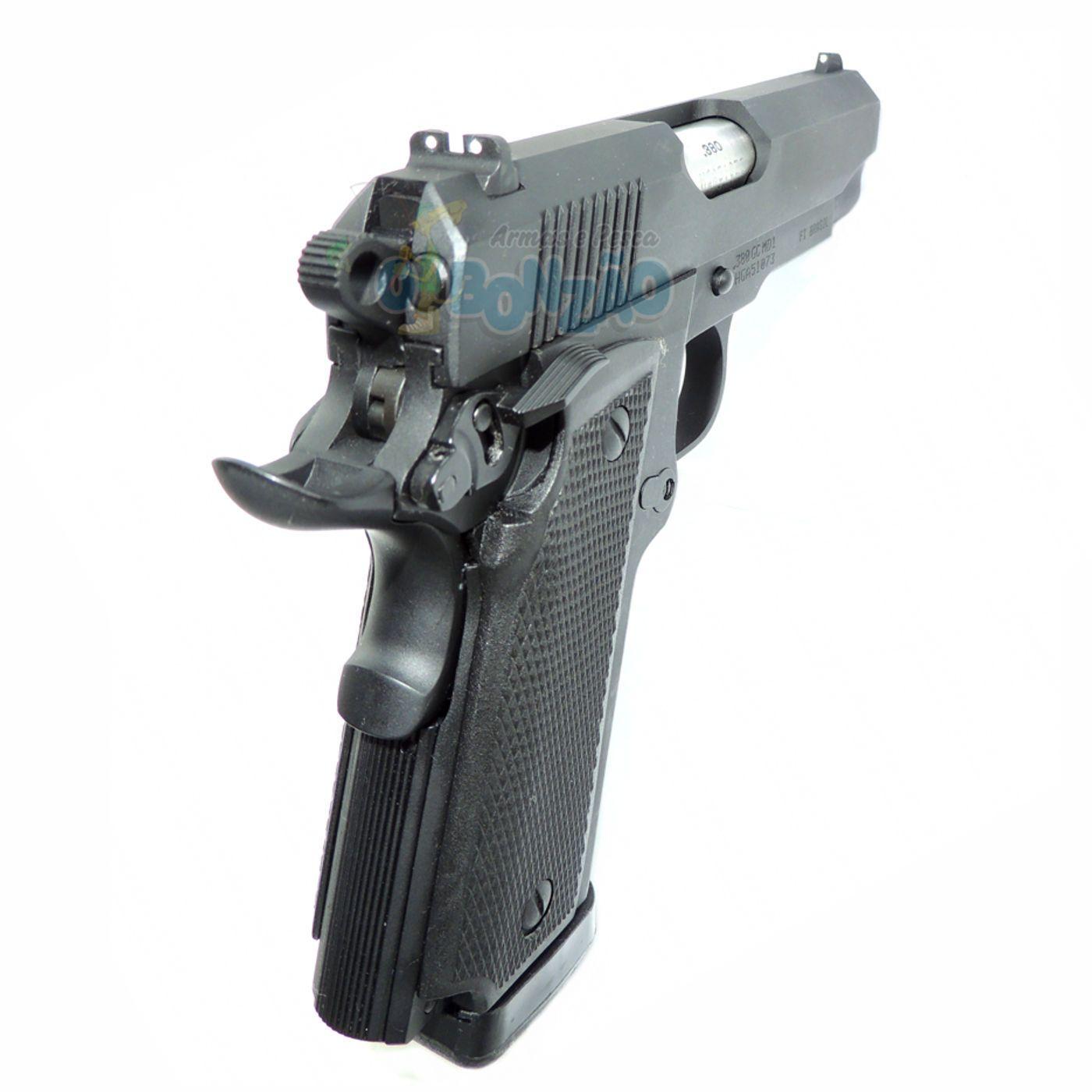 Pistola Imbel MD1 GC Cal .380 ACP 19+1 Tiros Oxidada Preta