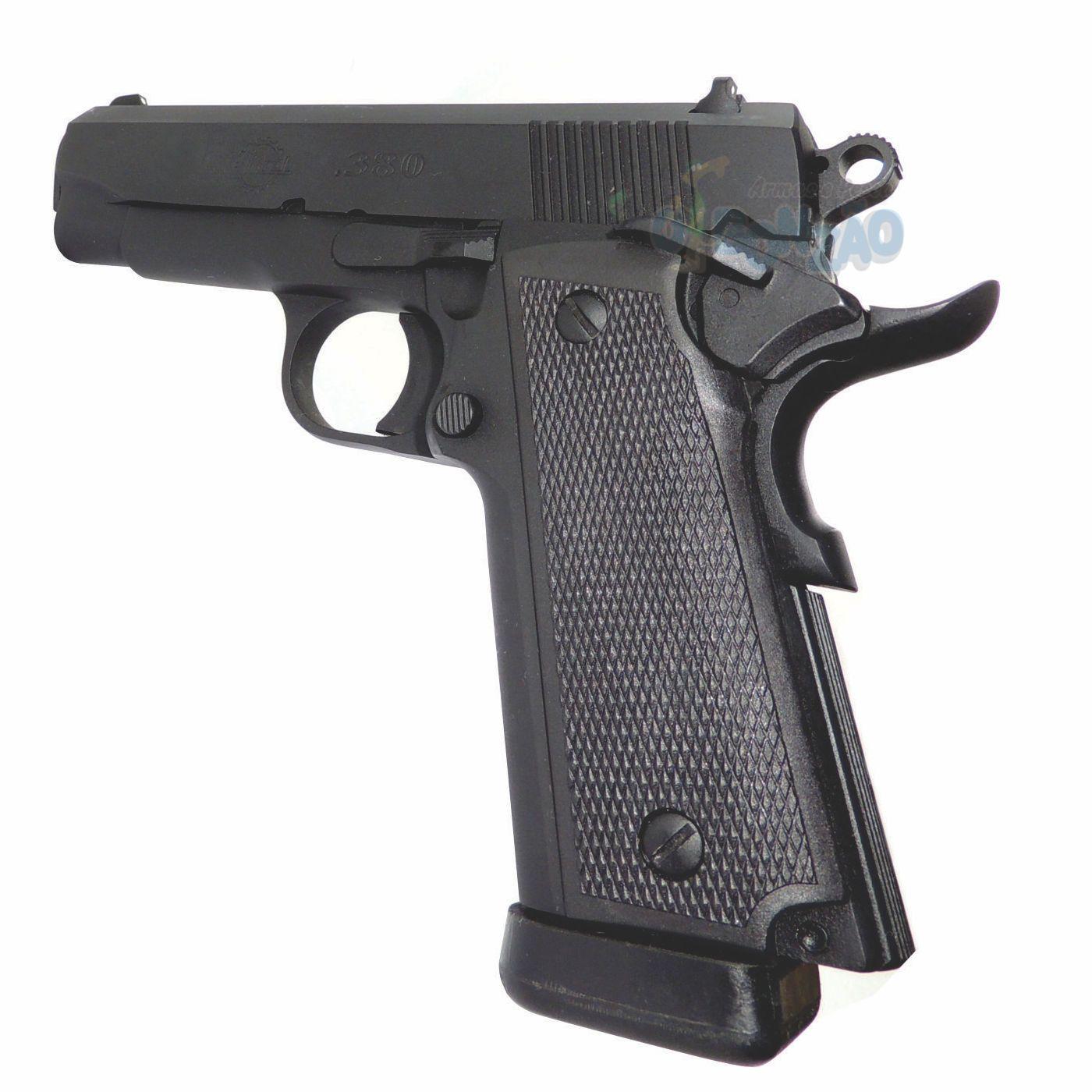 Pistola Imbel MD1N ADC Cal .380 ACP 9+1 Tiros Oxidada