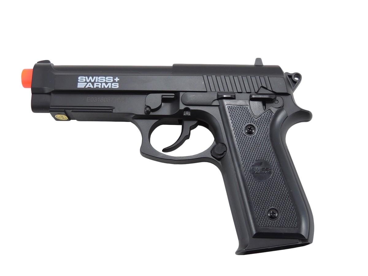 Pistola Pressão CO2 Swiss Arms SA P92 4,5mm Nylon