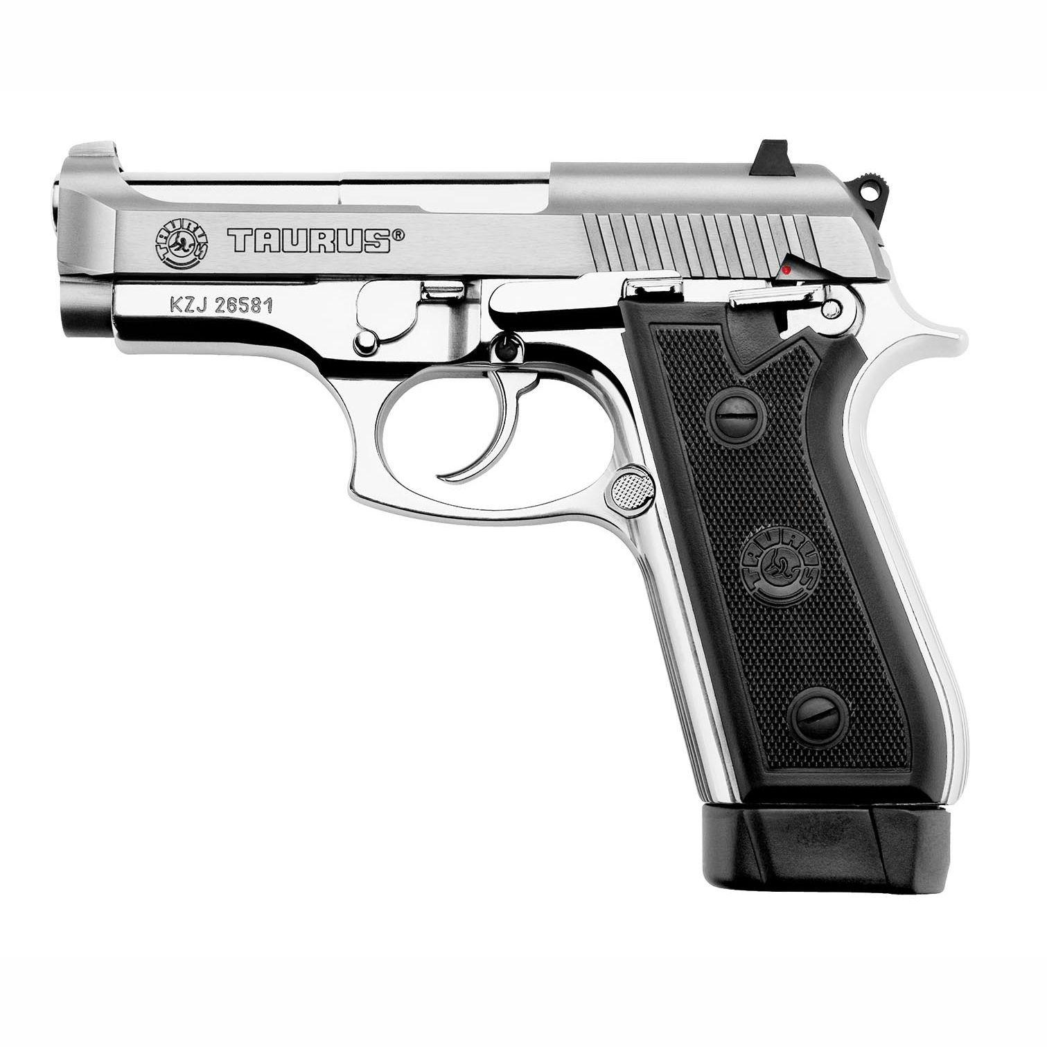 Pistola Taurus PT 58 HC PLUS - Cal. 380 Auto 19+1 Tiros Inox Fosco
