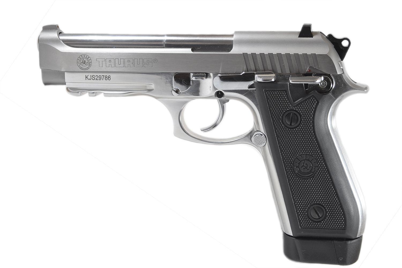 Pistola Taurus PT 59S - Cal. 380 Auto 19+1 Tiros Inox Fosco + Zarelho