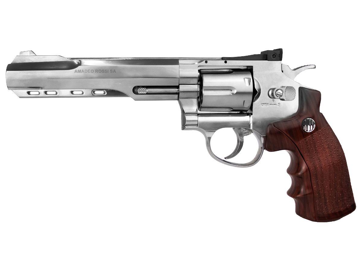 Revólver Pressão Rossi W702S 6'' 4,5mm Full Metal - CO2