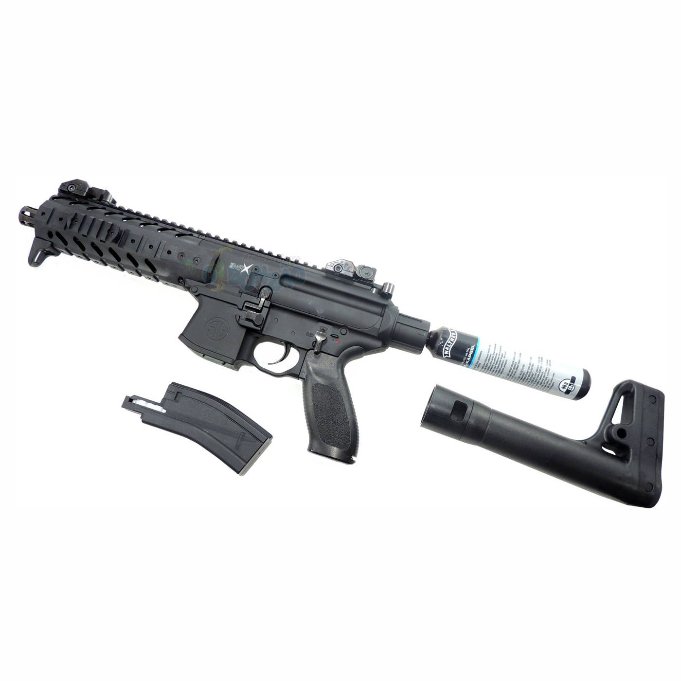 Rifle CO2 Sig Sauer MPX 4,5mm 30 Tiros + Cilindro Co2 88g
