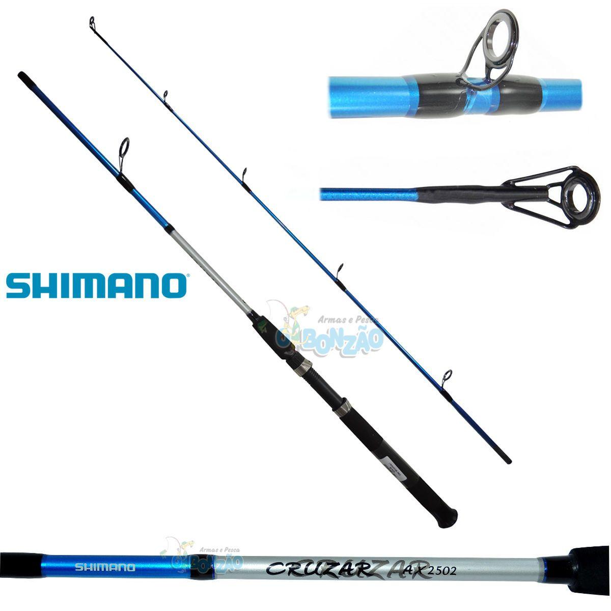 Vara Shimano Cruzar AX 2502 Blue - 8-16lb - 5`0
