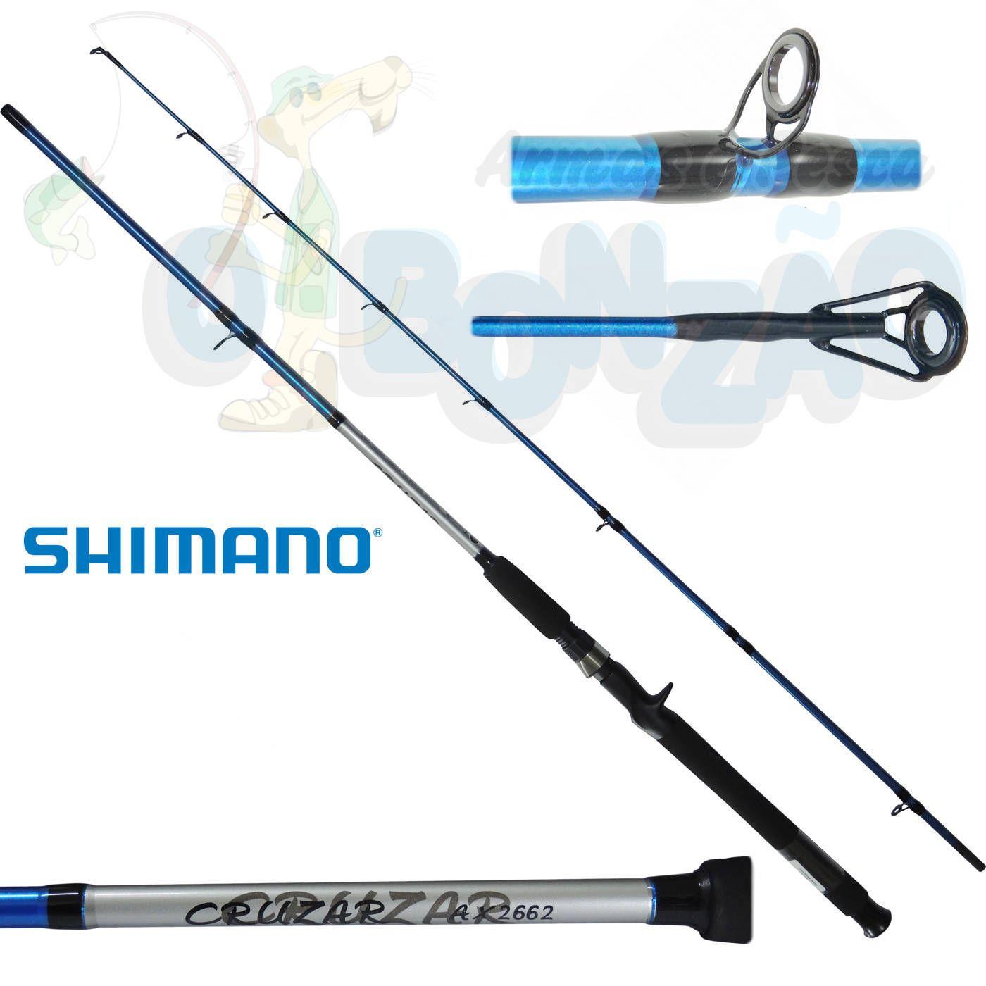 """Vara Shimano Cruzar AX 2662 Blue - 10-20lb - 6`6"""" (1,98m) - Carretilha 2 Partes"""