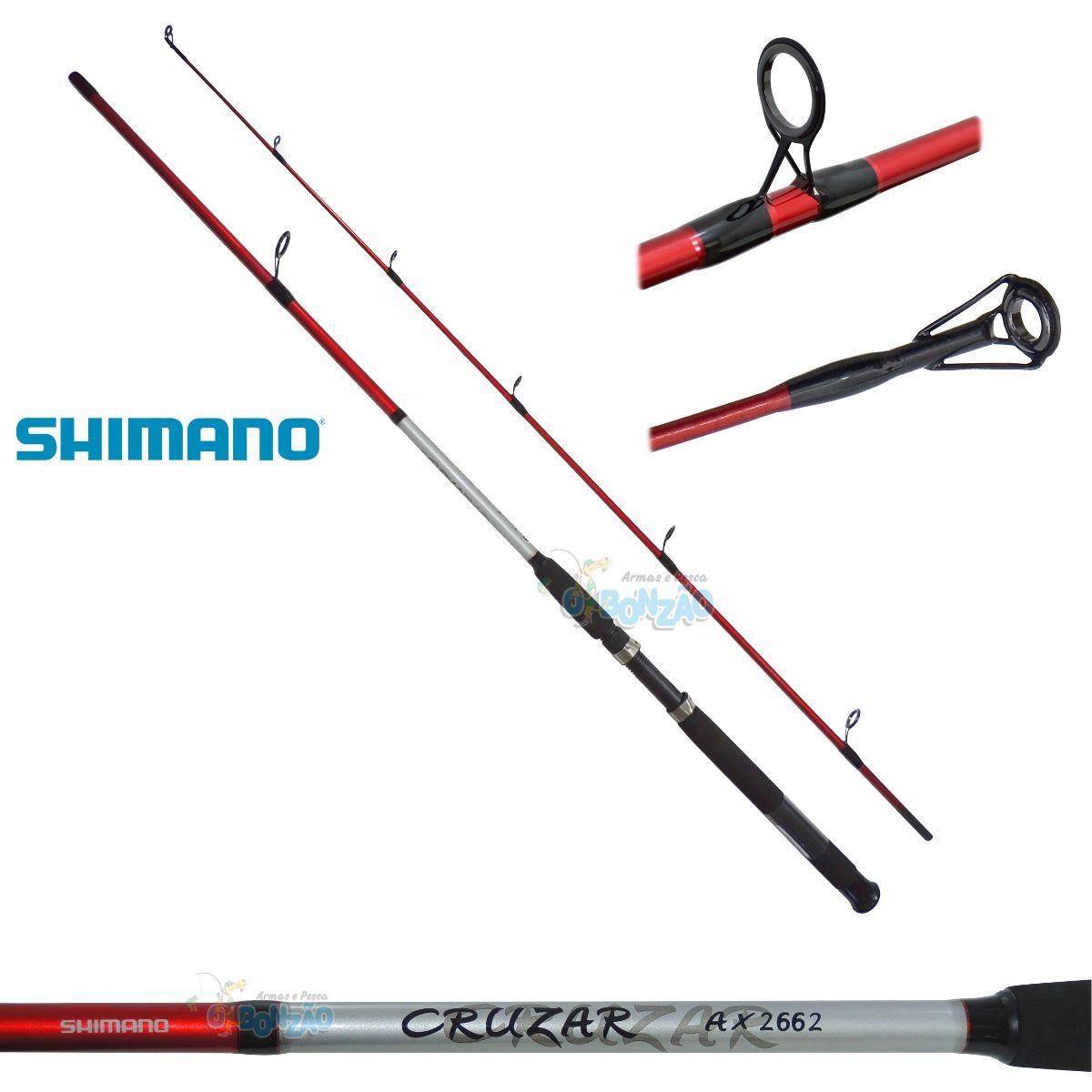 Vara Shimano Cruzar AX 2662 Red - 10-20lb - 6`6
