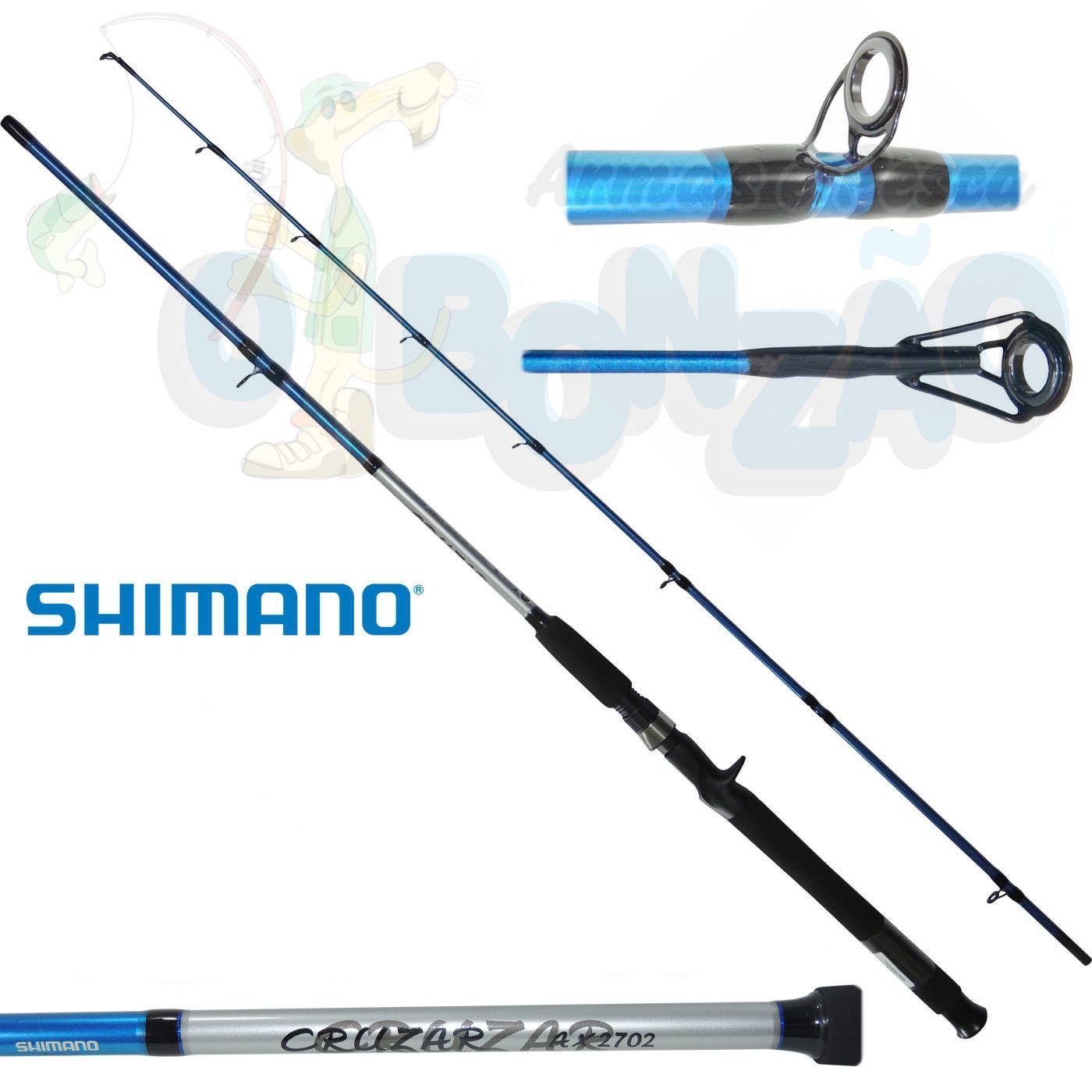 Vara Shimano Cruzar AX 2702 Blue - 10-20lb - 2,10m - Carretilha 2 Partes