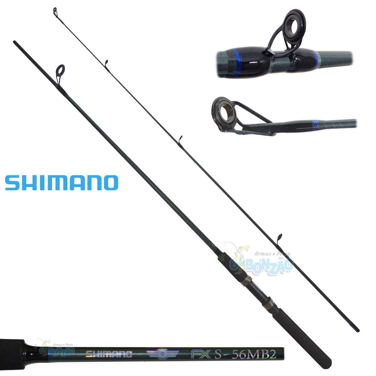 Vara Shimano FX S56MB2 - 6-14lbs - 1,68m - Molinete - 2 Partes