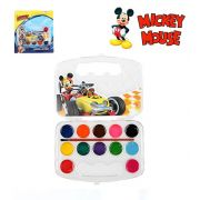 AQUARELA COM 12 CORES COM PINCEL MICKEY MOUSE