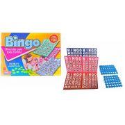 Bingo Jogo Divertido para Toda Família com 10 Cartelas + 75 Números de Plástico