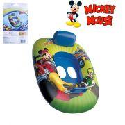 Boia Bote Inflável Infantil Modelo Fralda com Encosto e Pegador Mickey Mouse Disney