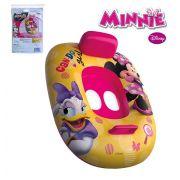 Boia Bote Inflável Infantil Modelo Fralda com Encosto e Pegador Minnie Mouse Disney