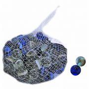 Bolinha Bolão de Vidro Colorido Bola de Gude 2 cm Ø - Pacote com 200 Unidades