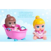 BONECA BABYS COLLECTION MINI COM BANHEIRA