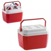 Caixa Plástica Térmica Vermelha com Capacidade para 17 Litros