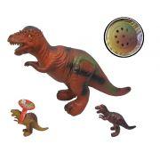 Dinossauro De Vinil Com Som A Bateria 34X25cm