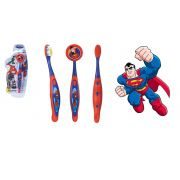 Escova dental Infantil Cerdas Macias com Capa Protetora DC Super Friends - Superman