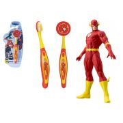 Escova dental Infantil Cerdas Macias com Capa Protetora DC Super Friends - The Flash