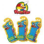 Escova dental Infantil Cerdas Macias com Capa Protetora Pica Pau