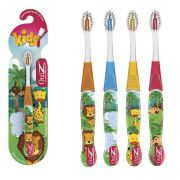 Kit 4 Escovas dental Infantil Cerdas Macias  - Zoo