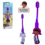 Escova Dental Infantil com Cerdas Macias - Doutora Brinquedo 3D
