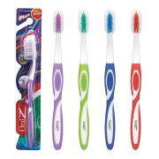 Kit com 4 Escovas Dental Plus Adulto Cerdas Média OralZ