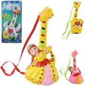 Guitarra Musical Infantil Princesas e Bichinhos com Som e Luz A Pilha