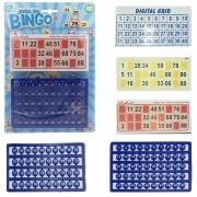 Jogo Bingo Divertido 24 Cartelas + 90 Números de Plástico