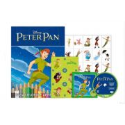 KIT 5 EM 1 PETER PAN DISNEY - COM DVD EXCLUSIVO