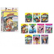 Kit com 10 Livros Sortidos para Colorir e Aprender Disney Junior