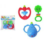 Kit com 3 Chocalhos  Diferentes e Divertidos Baby Star