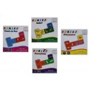 Kit com 4 Jogos com Temas Diferentes de Dominó com 28 Peças Cada