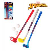 KIT ESPORTIVO MINI GOLF PRO INFANTIL 3 TACOS  E 3 BOLAS SPIDER-MAN