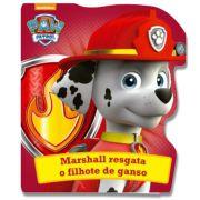 Livro Cartonado Patrulha Canina Marshall Resgata o Filho De Ganso 22x19,5cm