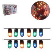 Pisca com 100 Mini Lampadas Arrozinho Colorido Decorativo com 4 M - 220V