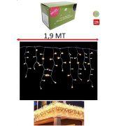 Pisca Pisca Cascata Decorativa 100 Lampadas Led Cor Branco Quente 1,9 MT - 220V