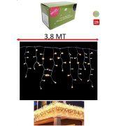 Pisca Pisca Cascata Decorativa 200 Lampadas Led Cor Branco Quente 3,8 MT