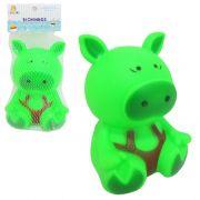 Brinquedo Bichinhos de Vinil Colorido - Porquinho  14X10,5cm