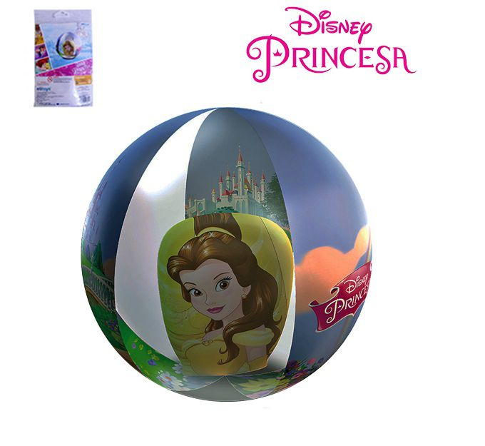 BOLA DE PRAIA 3D PRINCESAS DISNEY 40 CM