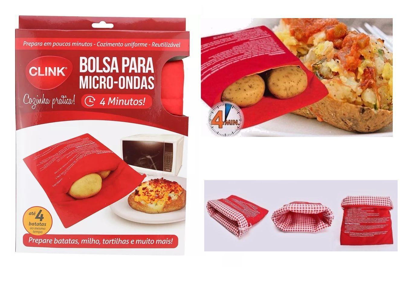 BOLSA SACO ESPECIAL PARA ASSAR BATATAS NO MICRO-ONDAS