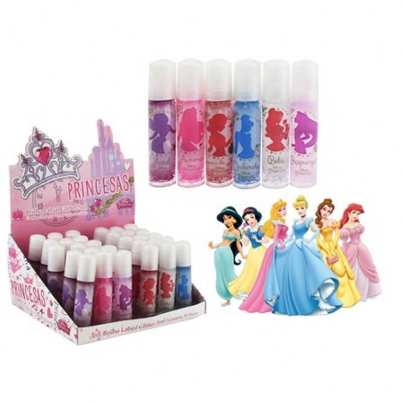 BRILHO LABIAL GLITTER PRINCESAS DISNEY 5 ML BOX 30 UNIDADES