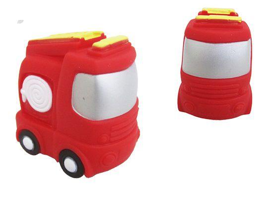 Brinquedo de Vinil para Bebê a Partir de 3 Meses - Caminhão de Bombeiro