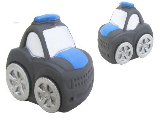 Brinquedo de Vinil para Bebê a Partir de 3 Meses - Carro de Policia
