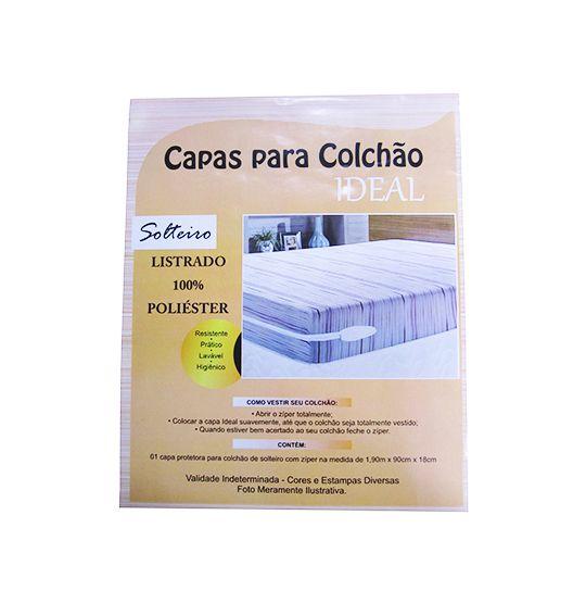 CAPA DE COLCHÃO SOLTEIRO POLIÉSTER  190X90X18CM