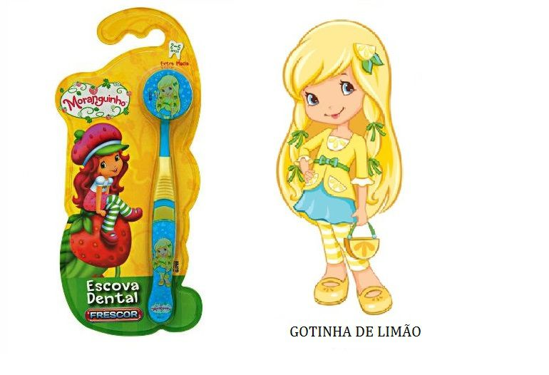 Escova Dental Infantil Capa Protetora Turma da Moranguinho - Gotinha de Limão