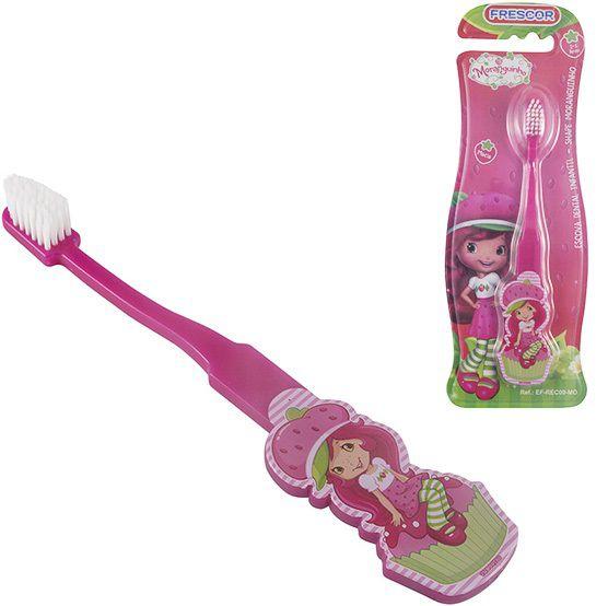 Escova dental Infantil Cerdas Macias  Moranguinho Shape